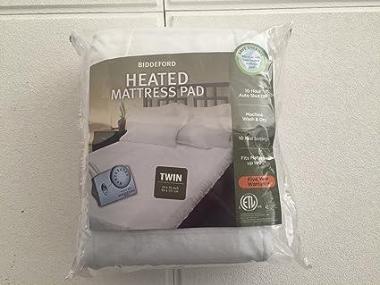 Amazoncom Biddeford Heated Mattress Pad Twin Home Kitchen