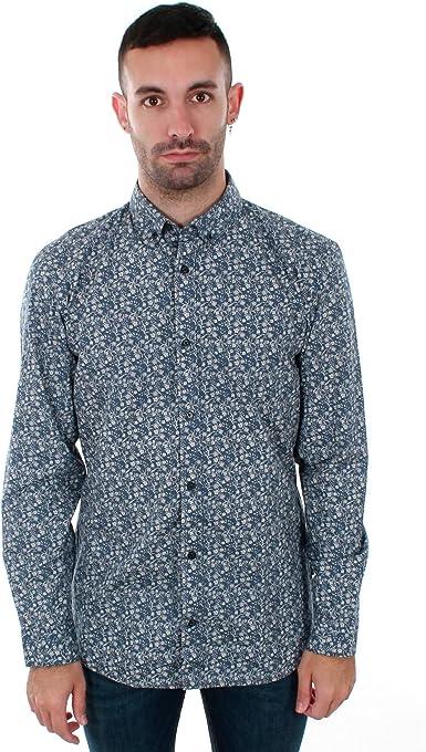 Camisa Jack&Jones Hombre Azul Claro 12155048 PKTDEK Mix AOP Shirt LS Dark Deni Micro Flow: Amazon.es: Ropa y accesorios
