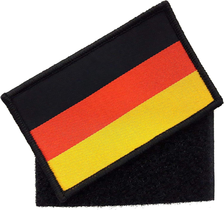 Generisch 1 X Deutschland Patch Ca 8cm X 5cm Aufnäher Mit Klettverschluss Bundeswehr Flagge Armee Aufbügler Bekleidung