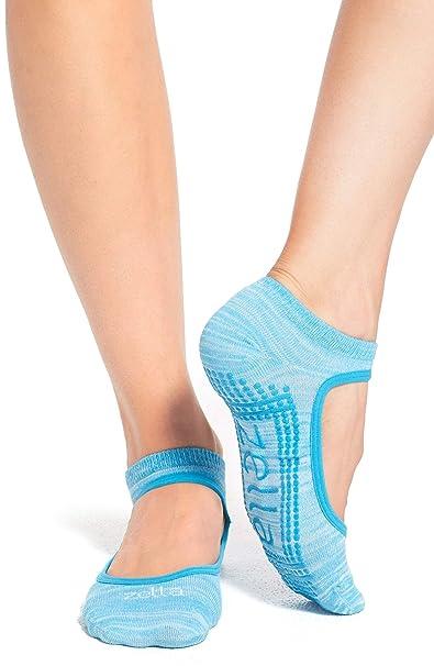 Amazon com: Zella Studio Ankle Yoga/Barre Socks One Size (6-10 5