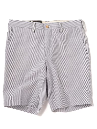 Seersucker Shorts 113-37-0007: Dark Grey