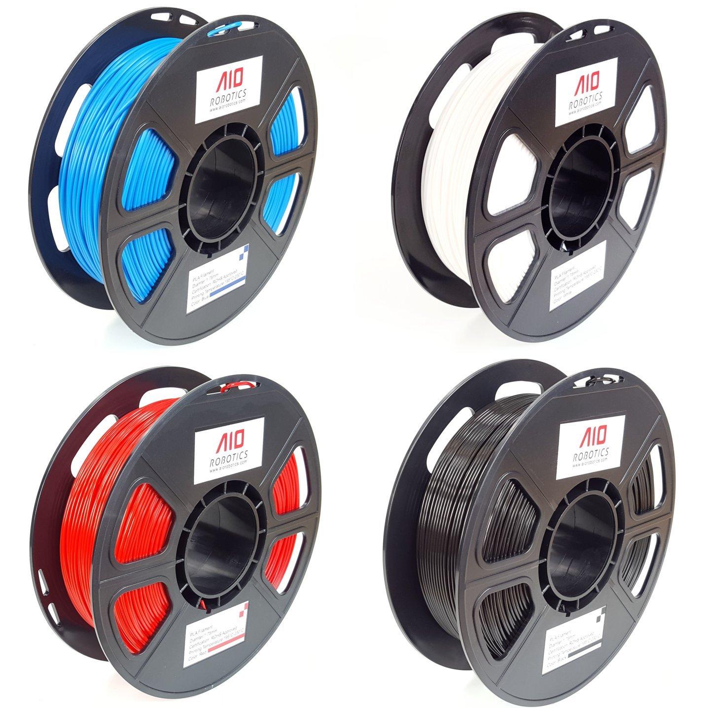 Blanco PLA 4 x 0,5 kg PLA Filamento AIO Robotics Premium para impresoras 3D 9010RL 206C 426C 285C colores populares Azul Rojo Negro