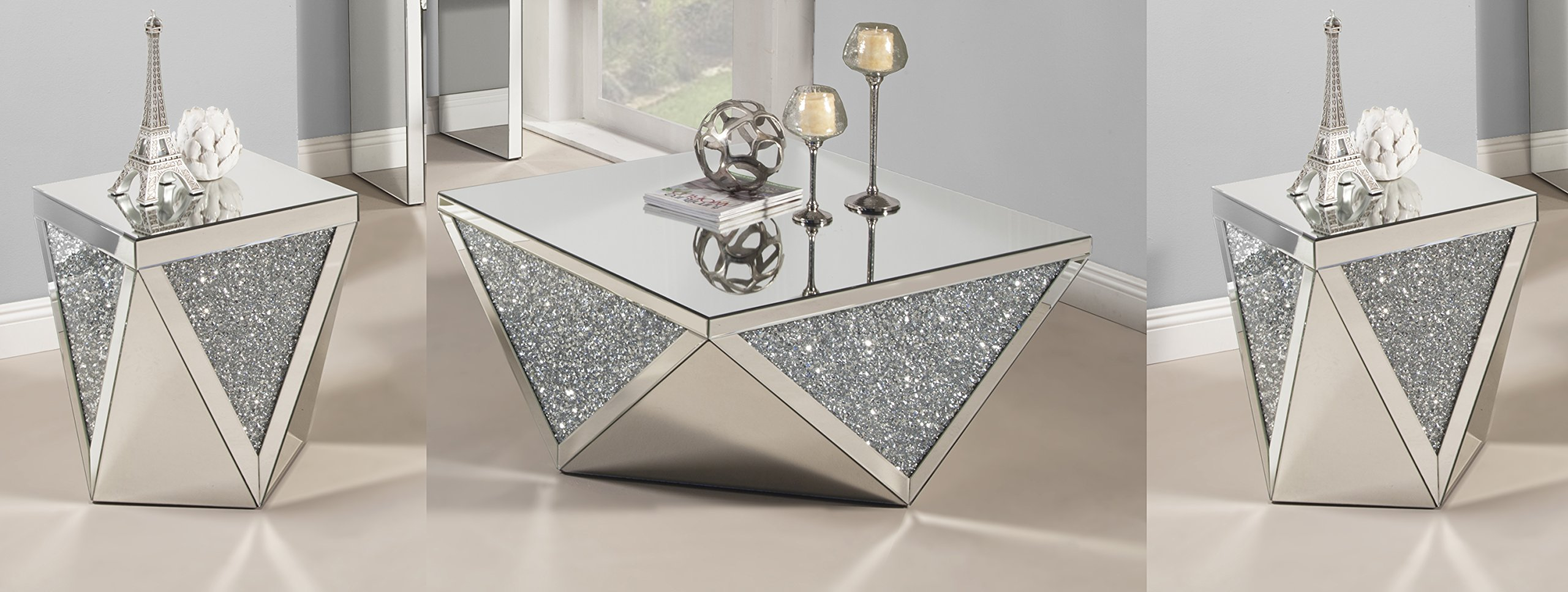 Best Quality Furniture Crystal Coffee Table Set by Best Quality