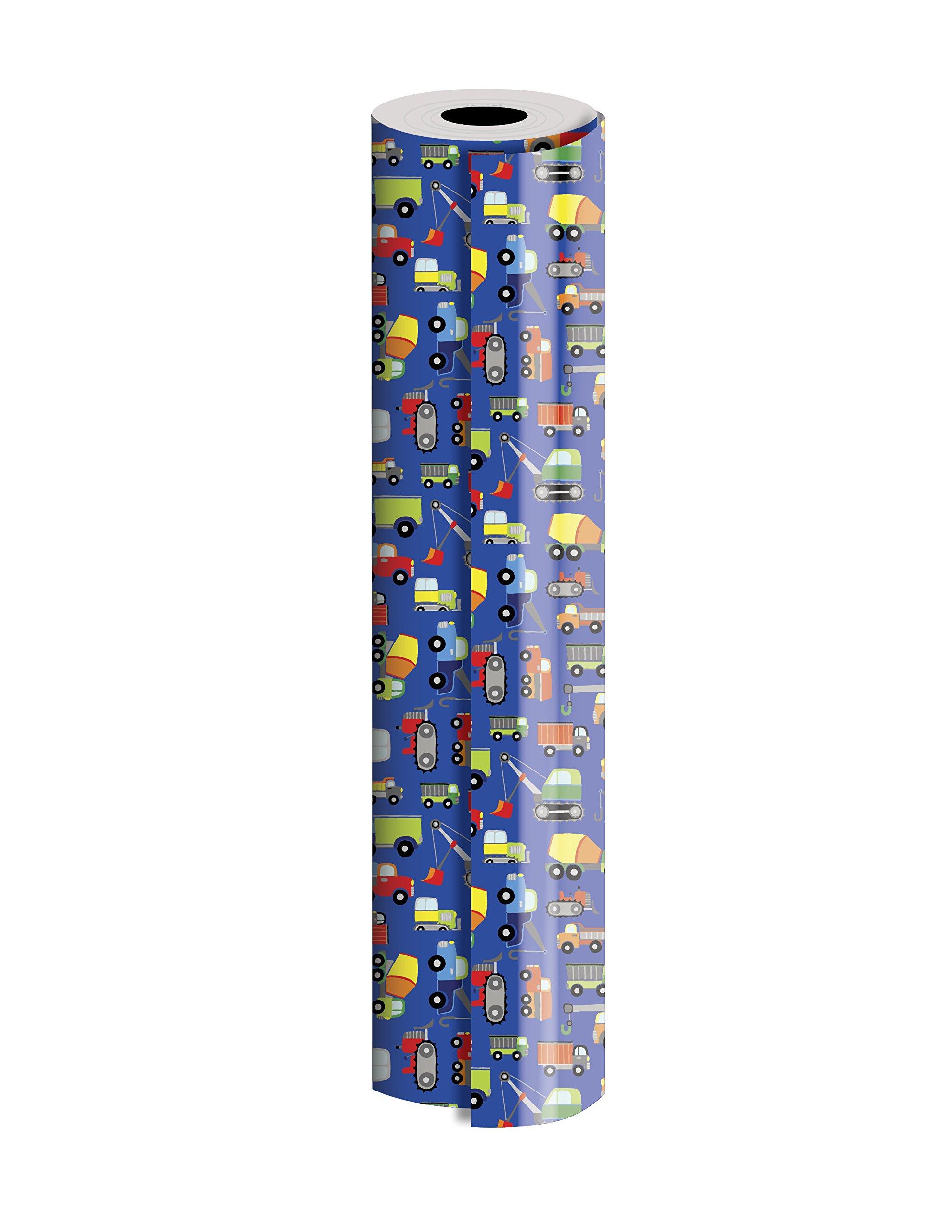 Jillson Roberts Bulk 1/4 Ream Gift Wrap Available in 11 Different Designs, 30'' x 208', Trucks