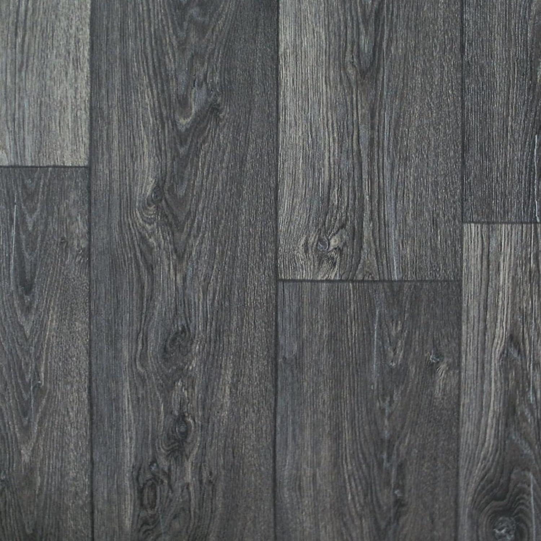 2m Breite PVC Bodenbelag schwarze Noppen-Optik 5,95 €//m²