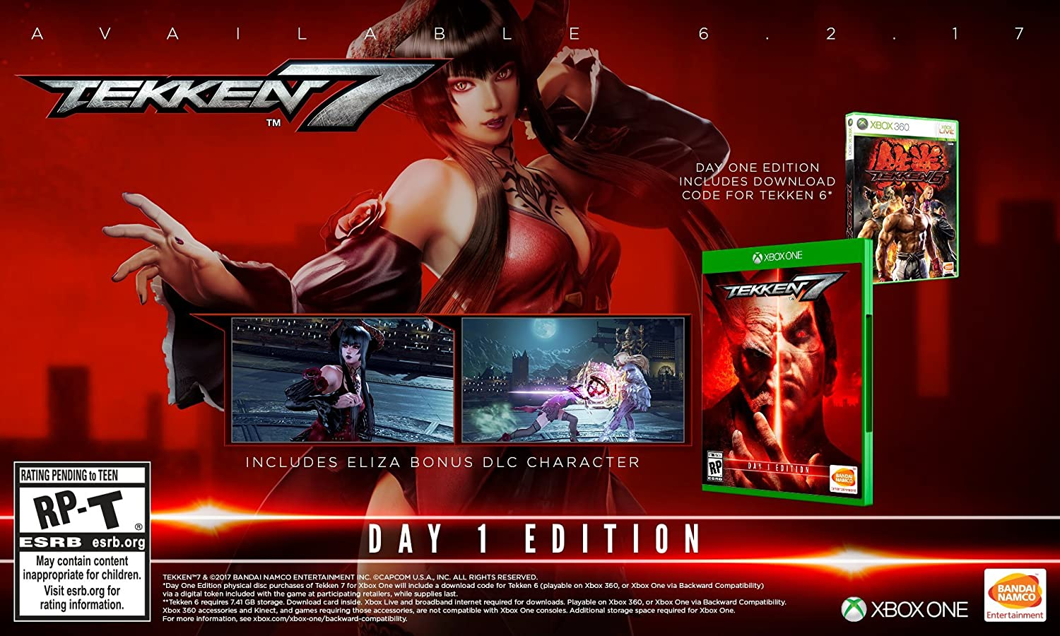 Amazon Com Tekken 7 Day One Edition Xbox One Day One Edition Video Games