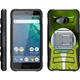 TurtleArmor | Compatible with HTC U11 Life Case [Hyper Shock] Armor Hybrid Cover Kickstand Impact Holster Belt Clip Sports an