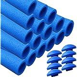 AWM Trampolin Schaumstoffpolster blau, Schaumstoff Schaumstoffrohre inkl. Kappen Stangenschutz- Set