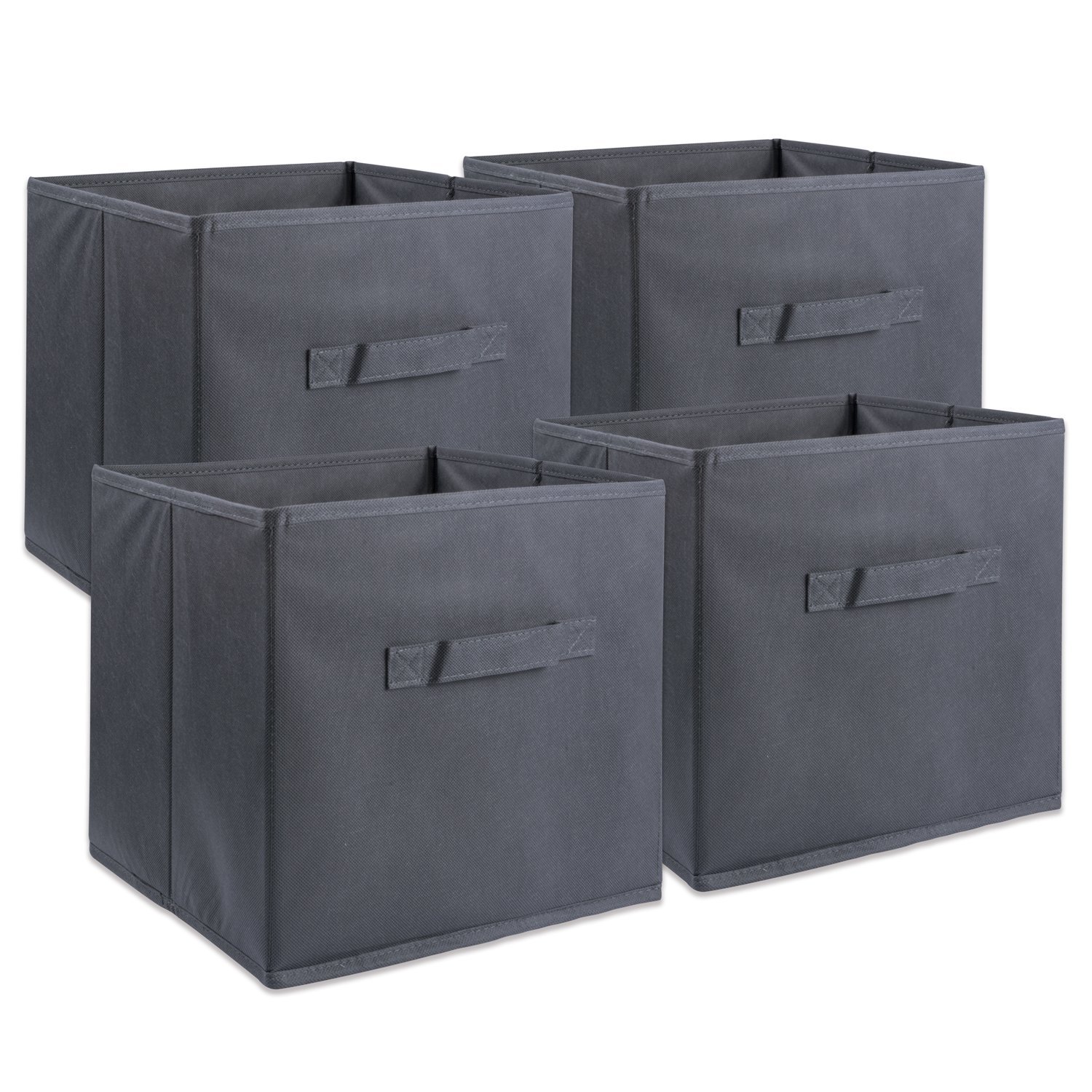 DII Fabric Storage Bins for Nursery, Offices, & Home Organization, Containers Are Made To Fit Standard Cube Organizers (11x11x11'') Gray - Set of 4