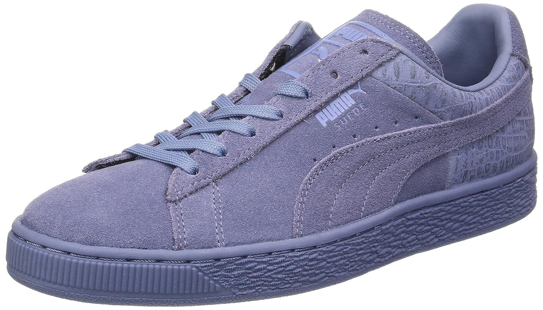 Puma Unisex-Erwachsene Suede Classic Casual Emboss Sneaker  445 EU|Blau (Tempest)