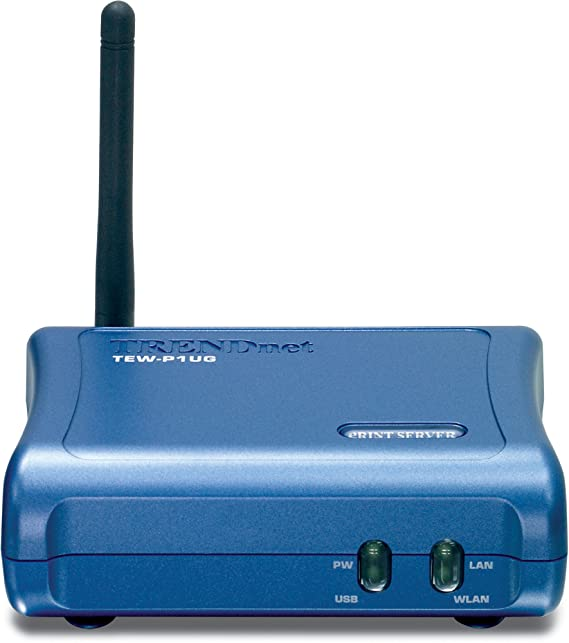 TRENDnet TEW-P1UG Wireless 1-Port USB Print Server: Amazon.co.uk ...