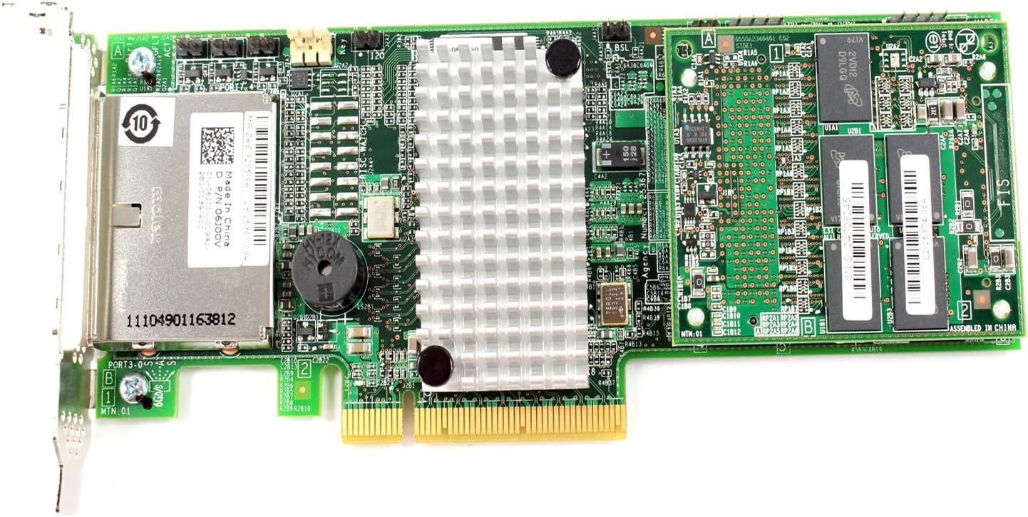 Dell PCI Express 2.0 x8 SAS RAID Controller Card LSI00284 6J00V SAS9285-8
