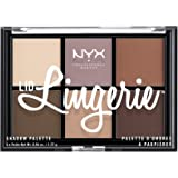 Nyx Professional Makeup Lid Lingerie Eyeshadow Palette, Brown, 8.22g