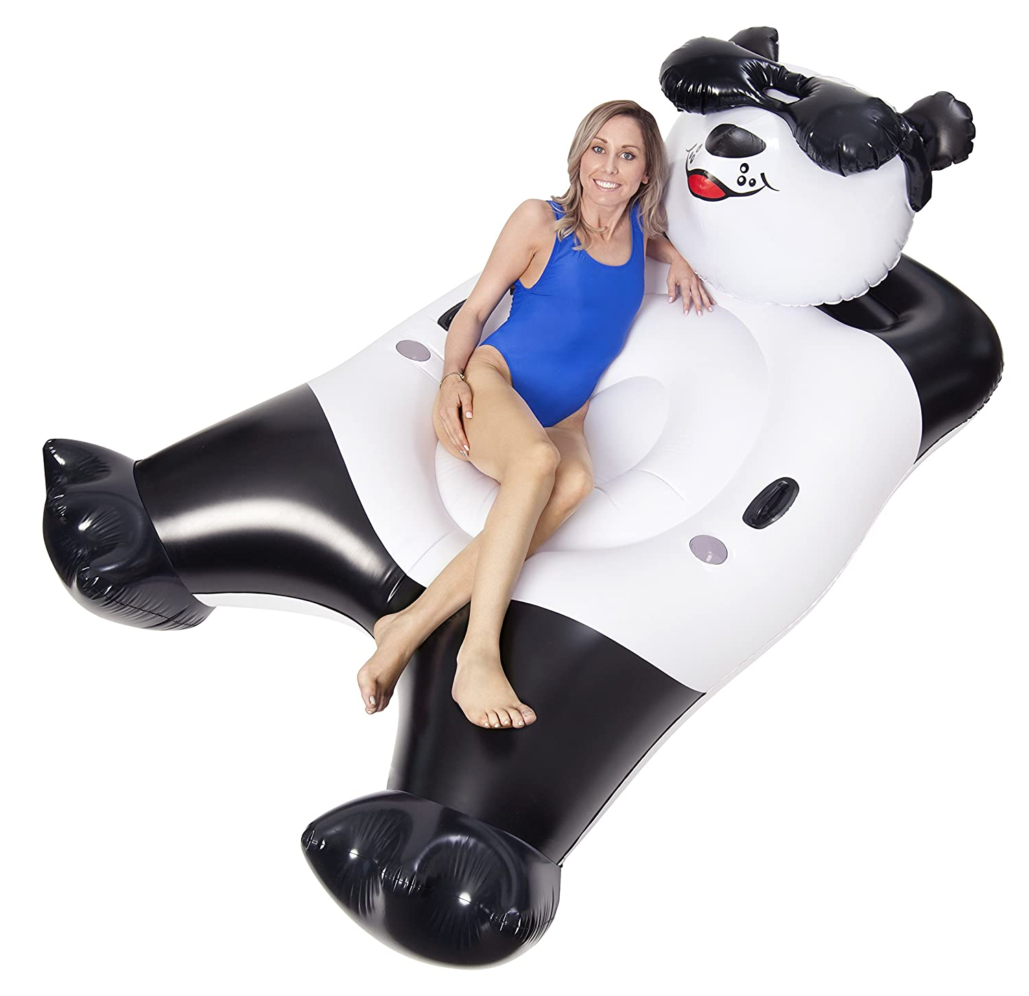 Amazon.com: GAME Panda Bear Inflatable Pool Float, Black and White, Giant: Toys & Games