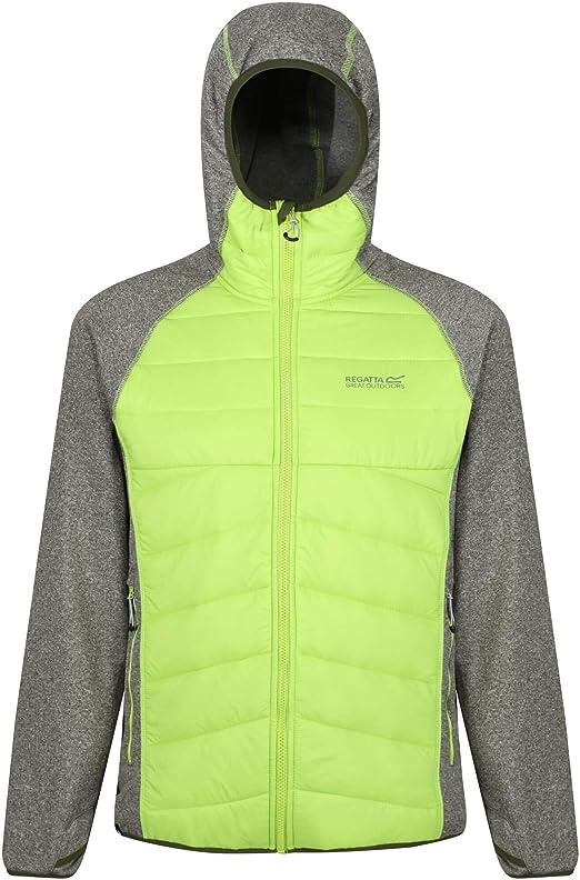 Regatta Mens Andreson III Hybrid Stretch Insulated Jacket Top Black Sports