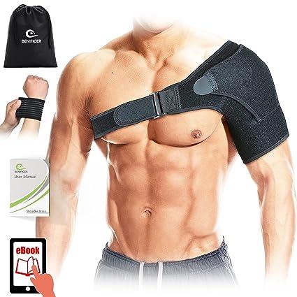 Benificer Apoyo de Hombro de Neopreno Transpirable, Soporte para hombros Protección y Prevención de Lesiones