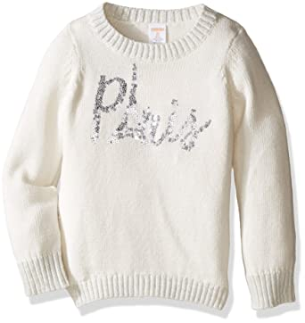Amazon.com: Gymboree Big Girls' Long Sleeve Paris Graphic Sweater ...