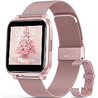 """Smartwatch Mujer, Hommie Reloj Inteligente Mujer 1.3"""" Táctil Completa, Pulsera Actividad Mujer IP68 con 17 Deportes…"""