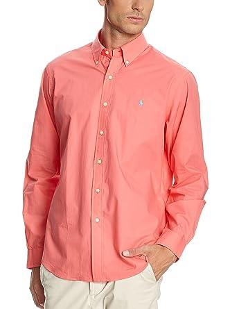 Polo Ralph Lauren Camisa Hombre Wovens Sport Coral L: Amazon.es ...