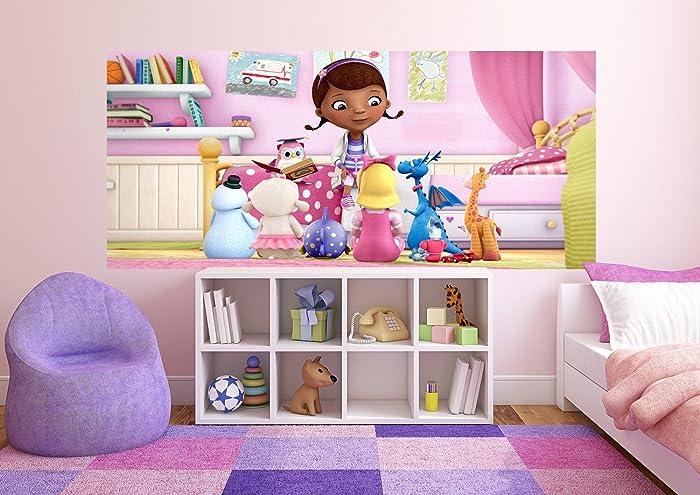 Amazon.com: WallandMore Disney Doc McStuffins Wall Decal Mural For ...
