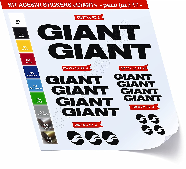 0440 Lot de 17 autocollants pour v/élo Couleur au choix Giant Cod