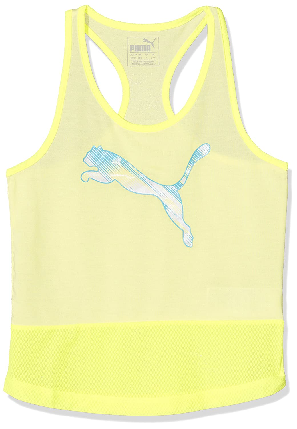 Puma Bambini Soft Sport Layer Canotta, Bambini, Softsport Layer Tank, Soft Fluo Yellow, 176 PUMAE|#PUMA 590826