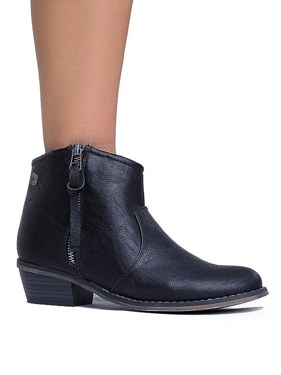 Women's Dorado-11 Western Ankle Boot Black-11 7.5