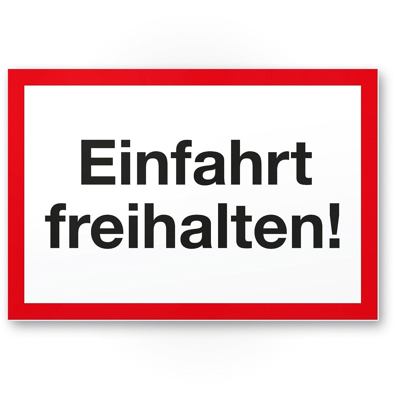 Parken verboten gelb-rot, 30 x 20cm auch gegen/über Halteverbot Ein- // Ausfahrt Tag- // Nacht Freihalten Kunststoff Schild Hinweisschild Einfahrt Parkverbot