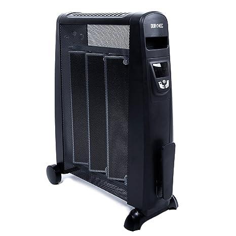 Duronic HV052 Calefactor Radiador Eléctrico Bajo Consumo con Panel de Mica de 1500 W, Termostato