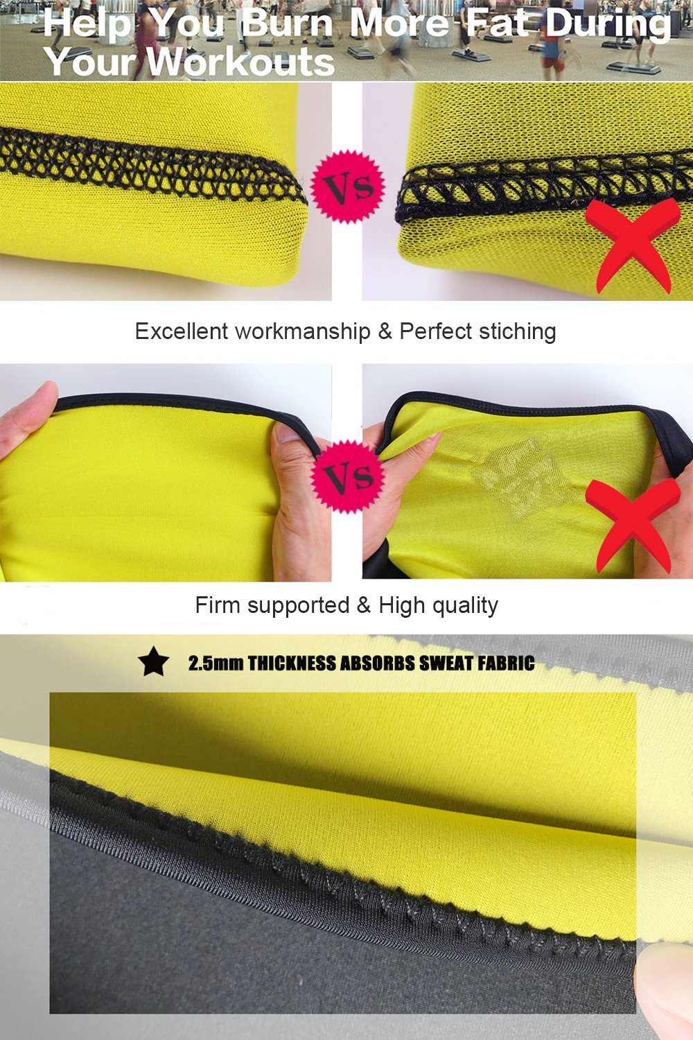 FIRM ABS Hot Slimming Body Shaper For Women Tummy Weight Loss Thermo Neoperne Sweat Sauna Vest