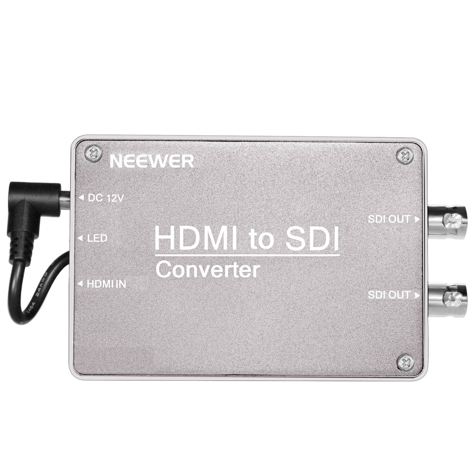 Neewer HDMI to SDI Micro Signal Converter for Monitor with HDMI Output, 2.970 Gbit/s HD Synchronized Audio Video Adapter Support 1080P 1080i 720P 576i 480i for Camera Home Theater