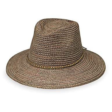 7298b3b0214c9 Wallaroo Hat Company Women s W Collection Malibu Fedora - Mushroom - Raffia