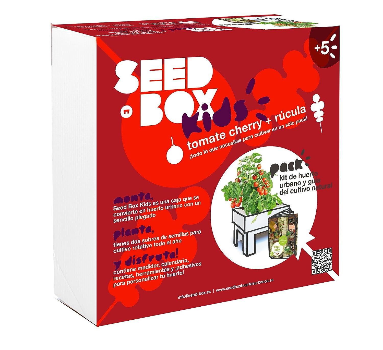 SeedBox Kids - Huerto Urbano para niños, Color Rojo: Amazon.es: Jardín