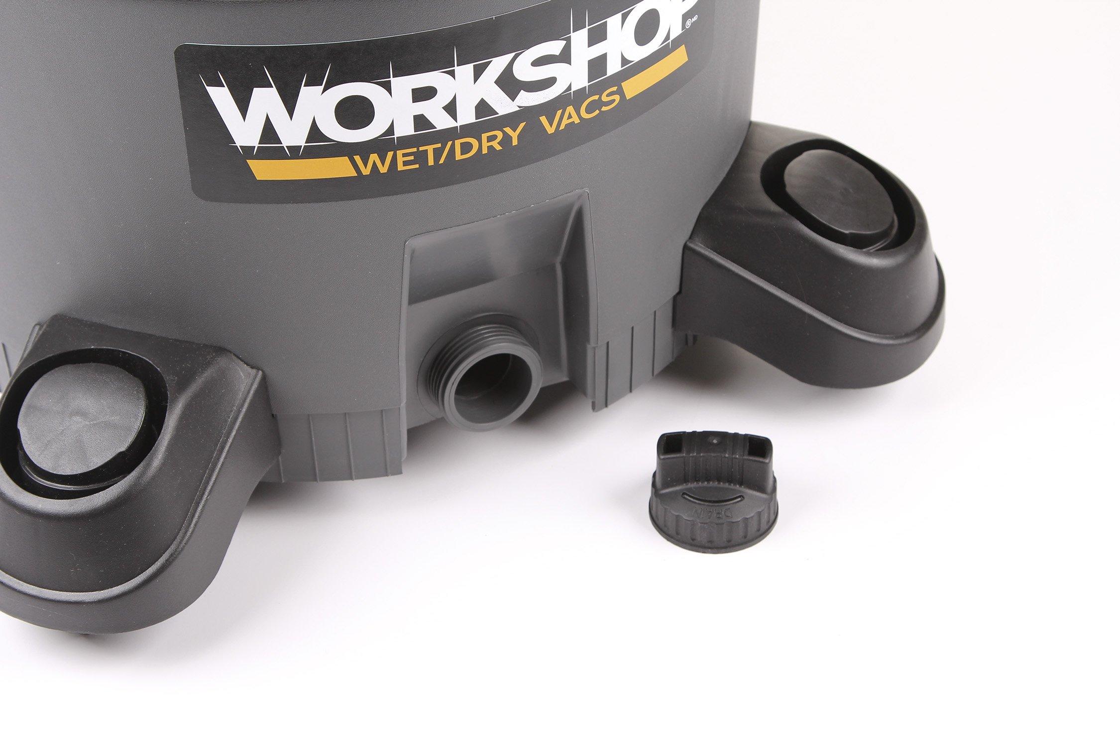 WORKSHOP Wet Dry Vac WS1200VA Heavy Duty General Purpose Wet Dry Vacuum Cleaner, 12-Gallon Shop Vacuum Cleaner, 5.0 Peak HP Wet And Dry Vacuum by Workshop (Image #8)