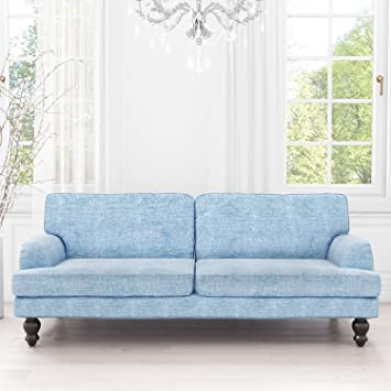 Amelia 3 Seater Sofa Bed In Blue Amazon Co Uk Kitchen Home