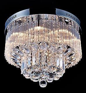 Saint Mossi Chandelier Modern Crystal Raindrop Chandelier Lighting Flush  Mount LED Ceiling Light Fixture Pendant Lamp