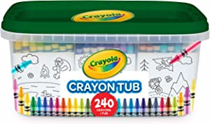 Crayola 240 Crayons, Bulk Crayon Set, 2 of Each Color, Gift for Kids, Ages 3, 4, 5, 6, 7