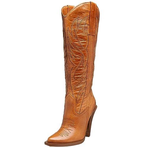 4ee307db69f Jessica Simpson Women's Alan Western Boot, Tan, 9.5 M US: Buy Online ...