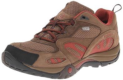 Merrell Women s Azura Waterproof Hiking Shoe Dark Earth Red 6 B(M ... a1c603fef0