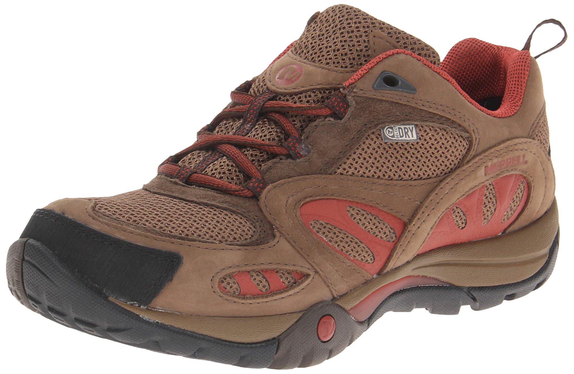Merrell Women's Azura Waterproof Hiking Shoe,Dark Earth/Red,8 M US