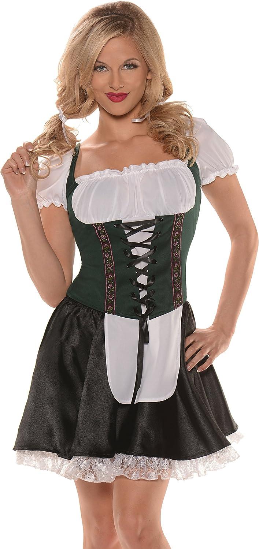 Women's Blue Beer Maiden German Girl Top Costume
