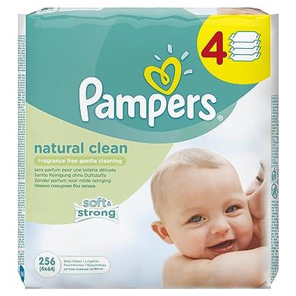 Pampers Toallitas Limpieza Natural – 12 x paquetes de 64
