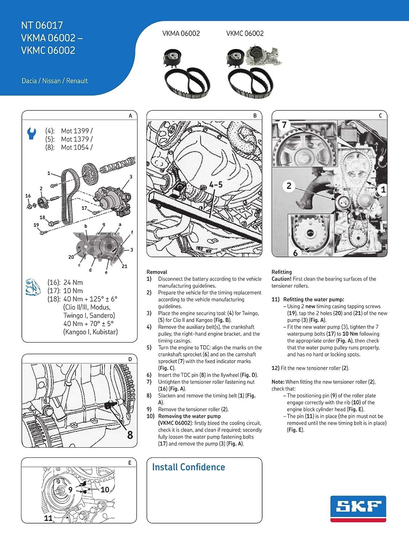 SKF VKMC 06002 Kit de distribución con bomba de agua: Amazon.es: Coche y moto