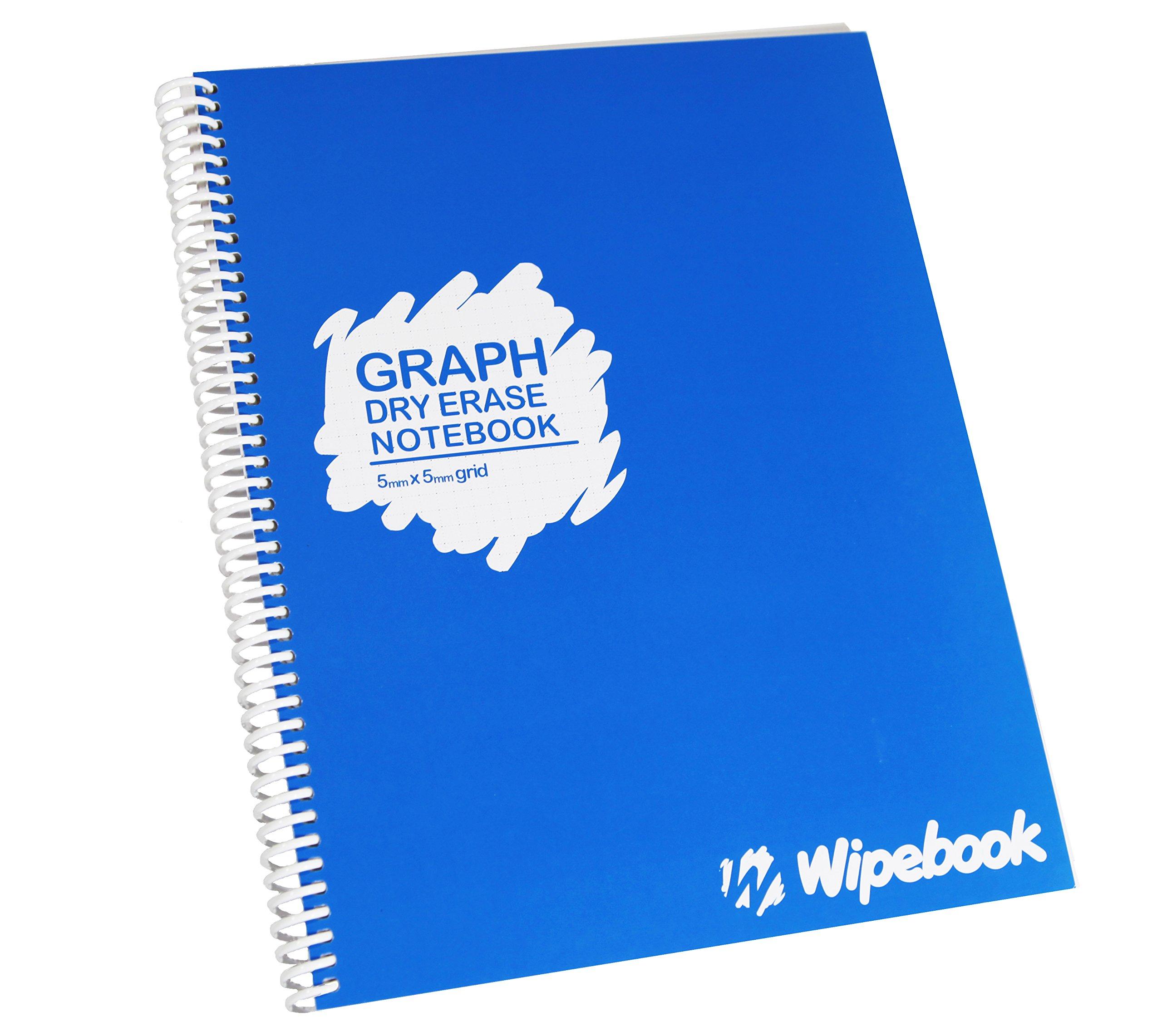 Wipebook Reusable Dry Erase (Graph) by Wipebook