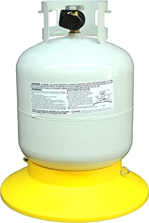 Tanksetter Compact Portable Cylinder Propane Tank Base – Sturdy and Durable – Holds Tanks Weighing 5-40lbs – Use Outdoors When Grilling, Camping, Traveling, Tailgating, at Home, or for Storage