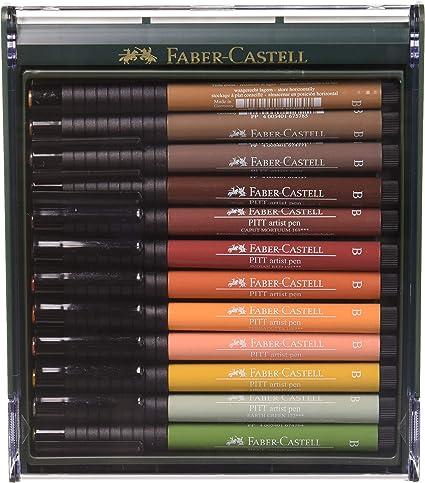 Faber-Castell 267422 - Pack de 12 rotuladores Pitt punta de pincel ...