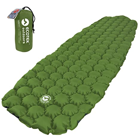 ecotek outdoors hybern8 ultralight inflatable sleeping pad for hiking backpacking and camping   contoured flexcell design amazon     ecotek outdoors hybern8 ultralight inflatable      rh   amazon