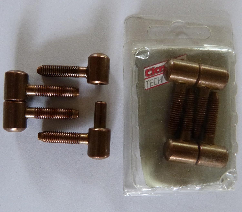 12 x M/öbelband T/ürb/änder Zargenb/änder Einbohrband M/öbelscharnier zweiteilig Stahl patiniert br/üniert Band Gr /ø 11 mm Wohnbereich