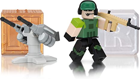 Amazon Com Roblox Action Collection Tower Defense Simulator Two Mystery Figure Bundle Includes 3 Exclusive Virtual Items Toys Games