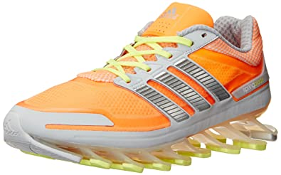 adidas Performance Women's Springblade W Running Shoe, Glow  Orange/Silver/Glow, 9.5